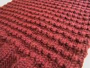 close-up of the stitch pattern